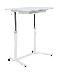 JESPER-ST Height Adjustable Desk + Storage Compartment