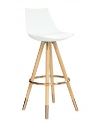 Orto Bar Stool (Set of Two) - Rose Gold Ring